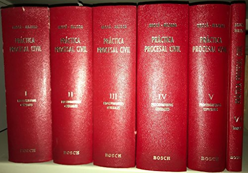 PRÁCTICA PROCESAL CIVIL - Adaptada a la Ley de Enjuiciamiento Civil y demás disposiciones civiles y procesales complementarias - 6 TOMOS