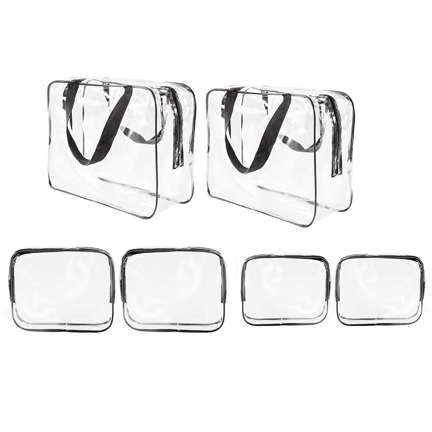 直感委任エジプトLurrose 旅行キャンプ休暇6個用のハンドル付き防水クリア旅行雑貨バッグ