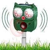 ROTEK Katzenschreck Ultraschallabwehr, Ultraschall Abwehr für Katzen, Eichhörnchen, Hund, Ratten, Tauben, Kaninchen und Füchsen Tiervertreiber Ultraschall wasserdichte Solar & Batteriebetrieben