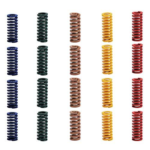 Youmile 20PCS Stampo per compressione Die Springs 8mm OD 20mm Lunghezza 5 colori Stampante 3D Accessori della scheda madre per stampante 3D CR-10 CR-1