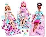 Barbie Princess Adventure coffret Pyjama Party Royale avec poupées Barbie, Daisy et Nikki, sacs de couchage et accessoires, jouet pour enfant, GJB68