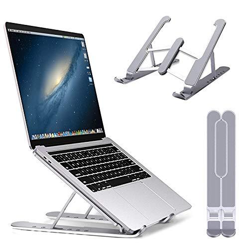 ARSSLY Laptop Ständer, 6-Stufe Höhenverstellbar Laptop Stand, Tragbar Notebook Ständer elüfteter für alle Laptops und Tablets 7-17 Zoll, faltbar rutschfeste Computerhalterung,ABS & Silikon