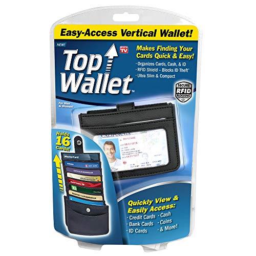 Ontel Top Wallet Easy-Access Vertical Wallet