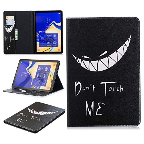 King phone Compatible with Samsung Galaxy Tab S4 SM-T830N/T835N 10.5 inch Premium Vogue Patterns PU Leather Smart Folio Case Shell Wallet Slim Stand Protective Cover - Black
