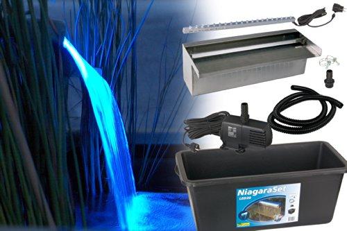 Ubbink Niagara Wasserfall Set - BLAUE Leuchteinheit 2014 (LED Set 30 cm)
