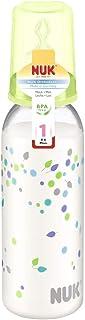 NUK Classic Baby's Milk Bottle Orthodontic 240ml Size 1 M 0-6 Months BPA Free