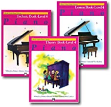 Alfred Basic Piano Library Course Pack Level 4 - Three book set - Includes - Lesson, Theory and Technic Books