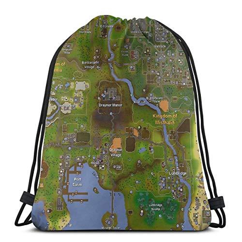 Ady Runescape World Map Drawstring Bags Gym Bag