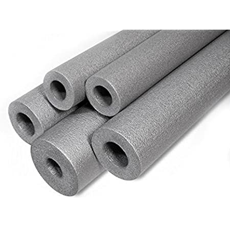 10 meters Flexible Pipe Insulation Foam Blue Red Grey Lagging Round Wrap 10 x 1m