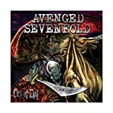 Avenged Sevenfold's Album Cover - City of Evil Canvas Poster Wall Art Decor Print Picture Paintings for Living Room Bedroom Decoration 12×12inch(30×30cm) Unframe-style1