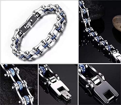 Gliederarmband silber/blau