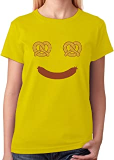 Tstars - Oktoberfest Costume Food Face Funny Halloween Women T-Shirt