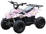 110cc ATV Four Wheelers Fully Automatic 4 Stroke Engine 16' Tires Quads for Kids Carbon Fiber