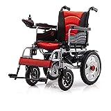 HIGHKAS Fauteuil Roulant électrique Intelligent à Quatre Roues Portable Pliable en Fauteuil Roulant électrique/Ancien Scooter/Plusieurs fauteuils roulants en Option avec pédales et sièges