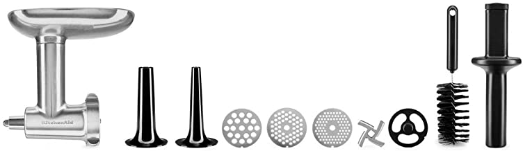 KitchenAid 5KSMMGA volledig metalen vleesmolen, accessoires voor keukenmachines, metaal, zilver