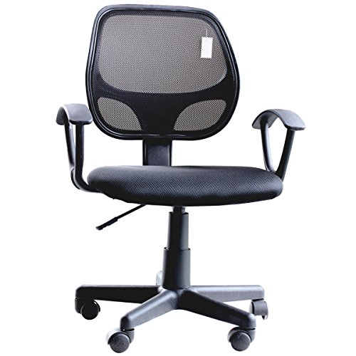 IDS Ergonomic Adjustable Mesh Low-Back Office Task Desk Chair with Arms
