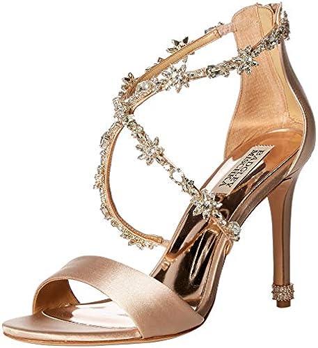 Badgley Mischka damen& 039;s Venus Heeled Sandal, Latte Satin, 7 M US