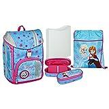 """Undercover GmbH FRSW7552, set scolastico completo - cartella, sacca, astuccio e marsupio - tutto il materiale scolastico utile per il tuo bambino - serie """"Disney Frozen"""""""
