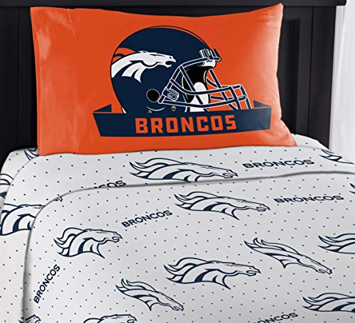 "Northwest NFL Broncos ""Monument"" Twin Sheet Set #339007046"