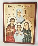 Handbemalte Ikone, einzigartig und schön, St. Sophia Sofia