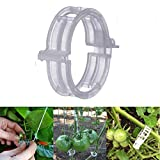 MIHEY 300 Pcs Tomato Trellis Clips, Tomato Vine Clips, Plant Support Garden Clips for Vine Vegetables to Grow Upright and Healthier