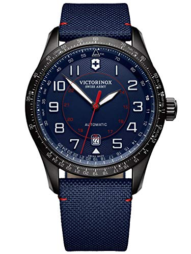 Victorinox Herren Airboss Mechanical - Swiss Made Automatikuhr Schwarz/Navy 241820