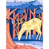Lazodaer - Pintura de diamante 5D para manualidades con diamantes de imitación y bordado de punto de cruz, decoración de pared, ciervos y búhos, 30 x 39,8 cm