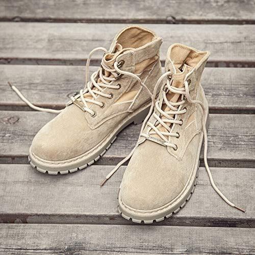 LOVDRAM Bottes Homme Martin Bottes Coton pour Hommes dans Les Bottes Bottes Courtes Desert Tooling Chaussures Rétro Chaussures à Talons Hauts Bottes Militaires Sauvages Hiver