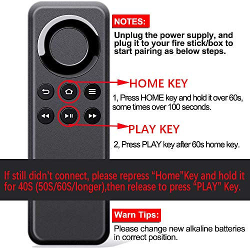 New CV98LM Replacement Remote Control Compatible with Amazon Fire TV Stick and Amazon Fire TV Box Without Voice Function