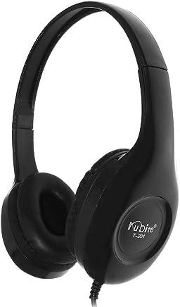 SamMoSon 2019 Auriculares Deportivos Almohadillas Soporte para,T201 Kubite Teens con Micrófono Auriculares Plegables para DJ Auriculares De Juego con Cable De 3,5 Mm