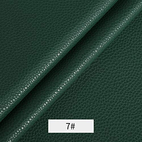Xia Yuuu Net Wear-resistant Artificial Leather Grained Faux Leather Fabric Leatherette Vinyl Leathercloth Material Clothing Dressmaking Upholstery Sold By Meter 1.40m(Unchanged Width)×1m