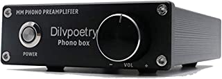 Dilvpoetry Phono Box MM Phono Preamp for Turntable Audio Phonograph Preamplifier Pre amp(Black)