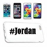 Reifen-Markt Hard Cover - Funda para teléfono móvil Compatible con Samsung S6 Edge Galaxy Hashtag #Jordan en Red Social Diseño
