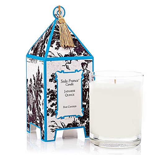 Seda France Japanese Quince Classic Toile Pagoda Box Candle, 10.2 oz