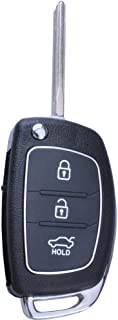 Keyless Remote Replacement Entry 3 Buttons Repair Flip Smart Remote Key Fob Shell Case for 2013 2014 Hyundai Santa Fe