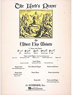 G. Schirmer The Lord's Prayer for High Voice In E Flat By Malotte