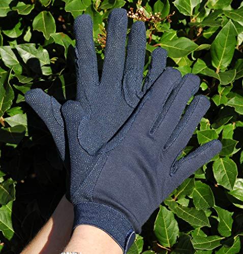 Rhinegold Cotton Pimple Gloves-Medium-Navy Gants Mixte, Bleu Marine, m
