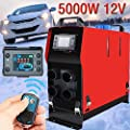 blue--net 12V 5KW Parking Heater Air Diesel Heater Thermostat Air Parking Heater with Remote Controller, LCD Monitor for Car/Truck/Boats/Bus from blue--net