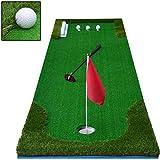 Qazxsw Práctica de Golf Mat/portátil Mat Interior y Exterior Mini Artificial Turf Blanket Práctica Set/Familia Swing de Golf Equipamiento de la práctica,Verde,75 * 300cm