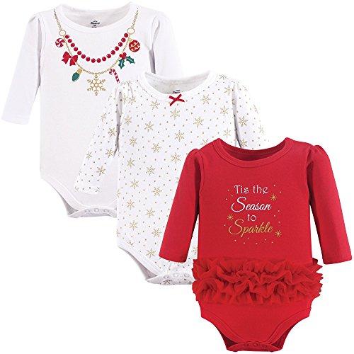 Little Treasure Unisex Cotton Bodysuits, Christmas Necklace, 3-6 Months