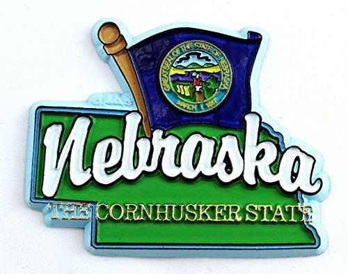 Nebraska State Map-Magnete per frigorifero, da collezione, motivo: bandiera inglese