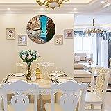 Reloj de Pared diseño Moderno de 30 cm, Pared Algarve Paisaje Hito Playa Lagos Portugal Castillo Gran Cielo Parques Natur Reloj de Pared silencioso Digital, Utilizado en la Sala de Estar, la Cocina