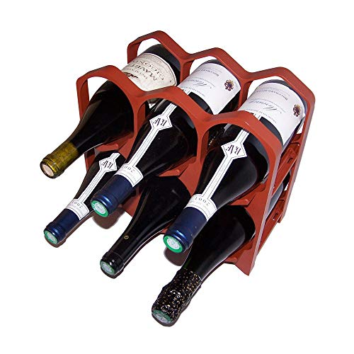 Drinkcase Casiers à Bouteilles Couleur Brique, Design et empilables