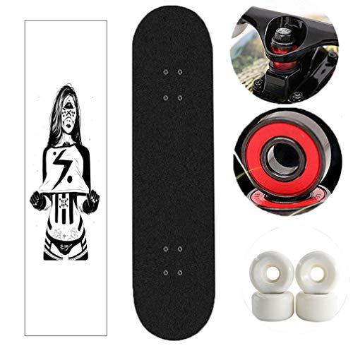 Tortoiseshell Skateboard Complete, 31 Inche Mini Skateboards (Das verrückte Mädchen Pattern)