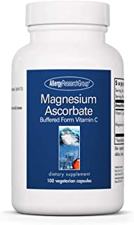 Allergy Research Group - Magnesium Ascorbate - Buffered Vitamin C, Immune Support - 100 Vegetarian Capsules