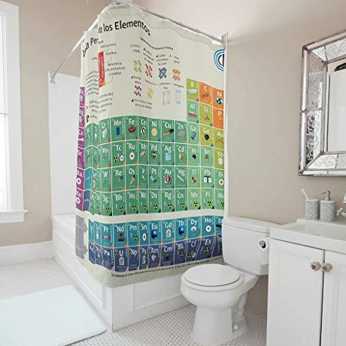Charzee Douchegordijnen met tijdloos patroon, waterafstotend, waterdicht, douchegordijn voor badkuip, 150 x 200 cm