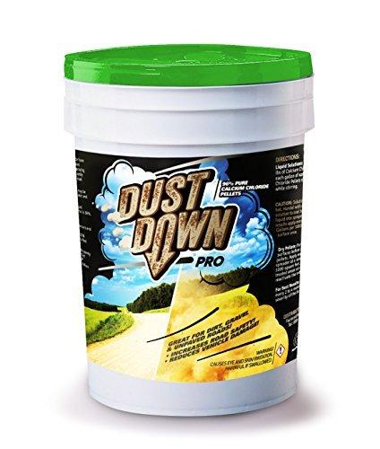 FDC 96% Pure Calcium Chloride DUST Down PRO Pellets (Controls dust on unpaved Dirt & Gravel Roads) 5 Gallon Pail