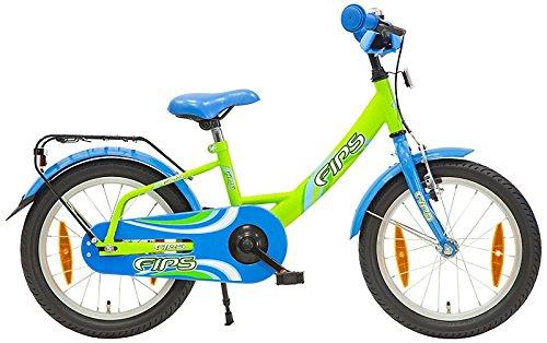Fips 18 Zoll Kinderrad Kinderfahrrad ab 5 Jahren ab 115 cm 4 Farbvarianten, Farbe:Grün/Blau
