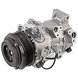 AC Compressor & A/C Clutch For Toyota Camry V6 & Avalon Replaces Denso 6SBU16 7-Groove w/Triangle Plug - BuyAutoParts 60-01916NA NEW