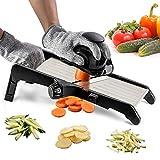 Mandoline Slicer for Food and Vegetables -VEKAYA Adjustable Kitchen Vegetable Slicer For Potatoes...